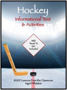 Ice Hockey : Informational Text and Activities