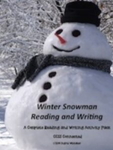 Winter Reading and Writing Snowman Activity Pack